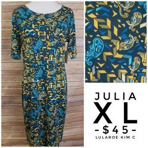 LuLaRoe Julia Dress (XL)